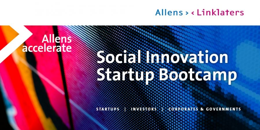 Allens Accelerate Social Innovation Startup Bootcamp